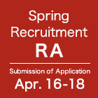 Spring Recruitment RA